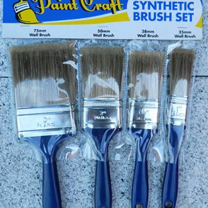 4 Piece Synthetic Brush Set
