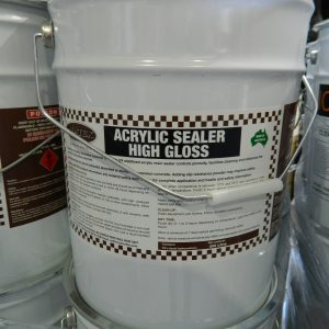 acrylic high gloss sealer. concrete sealer
